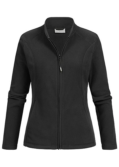 Seventyseven Lifestyle Damen Micro Fleece Jacket 2-Pockets schwarz