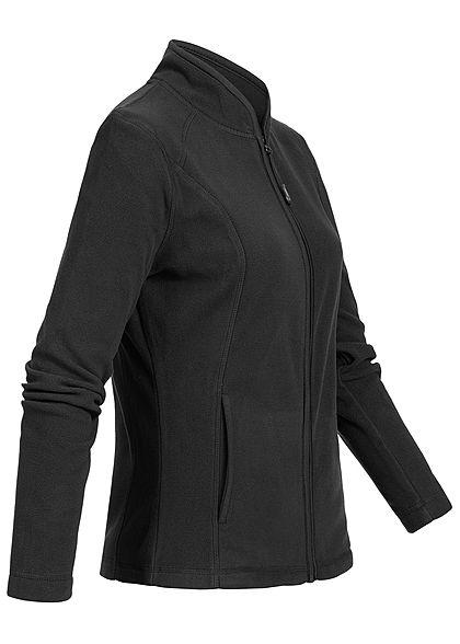 Seventyseven Lifestyle Damen Micro Fleece Jacket 2-Pockets schwarz