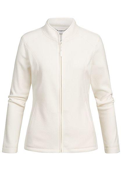 Seventyseven Lifestyle Damen Micro Fleece Jacket 2-Pockets ecru off weiss