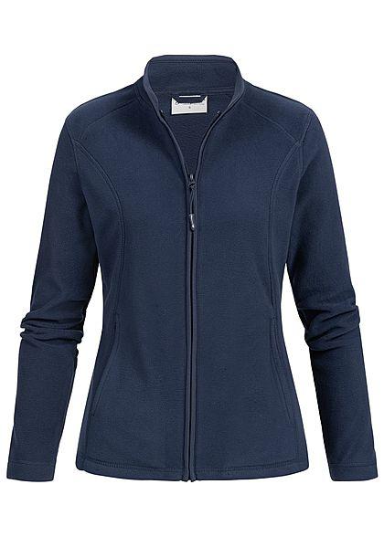 09994d7c004cf2 Seventyseven Lifestyle Damen Micro Fleece Jacket 2-Pockets navy blau -  77onlineshop