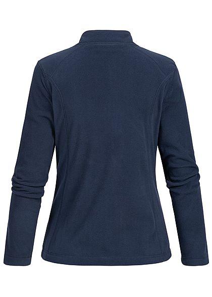 Seventyseven Lifestyle Damen Micro Fleece Jacket 2-Pockets navy blau