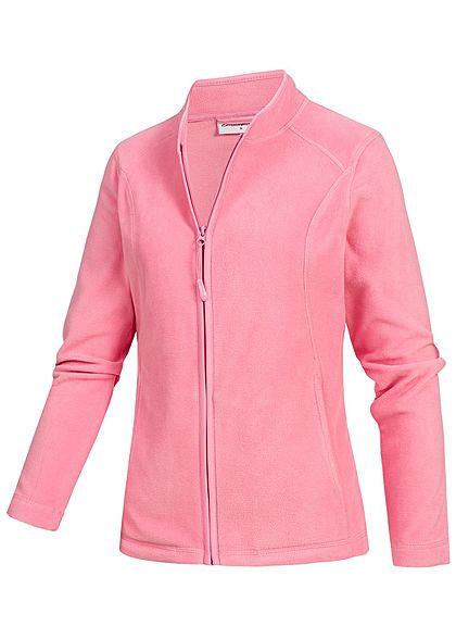 Seventyseven Lifestyle Damen Micro Fleece Jacket 2-Pockets rosa