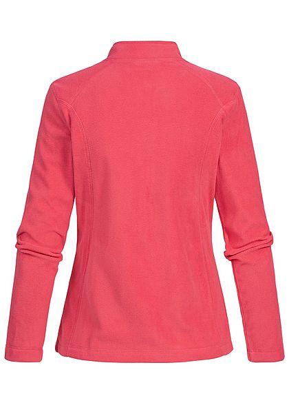Seventyseven Lifestyle Damen Micro Fleece Jacket 2-Pockets fuchsia dunkel pink