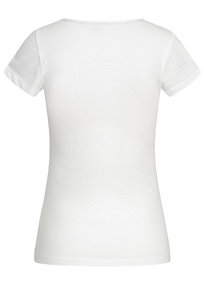 Seventyseven LifestyleDP Damen 2er-Set T-Shirt Hearts Print weiss navy blau