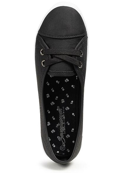 Seventyseven Lifestyle Damen Ballet Slip Sneaker schwarz