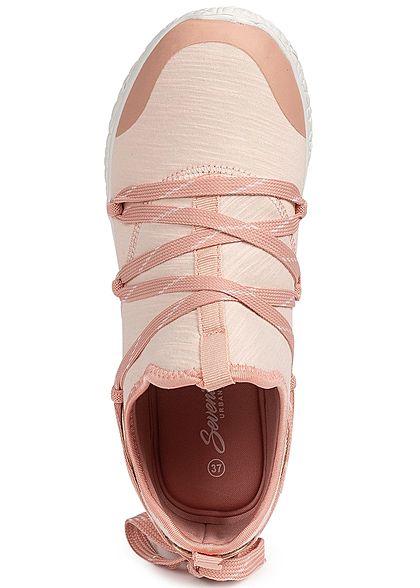 Seventyseven Lifestyle Damen Running Sneaker rosa