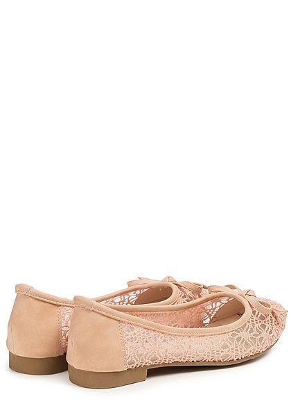 Seventyseven Lifestyle Damen Lace Ballet Flats Shoes rosa