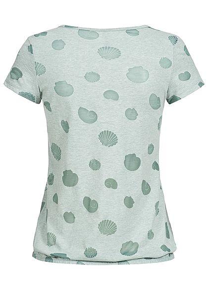 Seventyseven Lifestyle Damen T-Shirt Mesh Shells grün