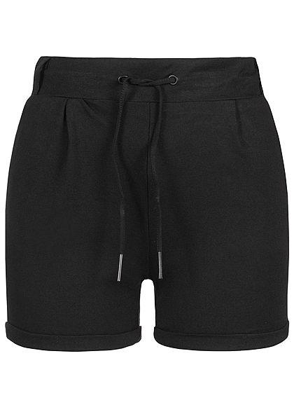 691bf2cba80b6c Seventyseven Lifestyle Damen Sweat Shorts 2-Pockets schwarz - 77onlineshop