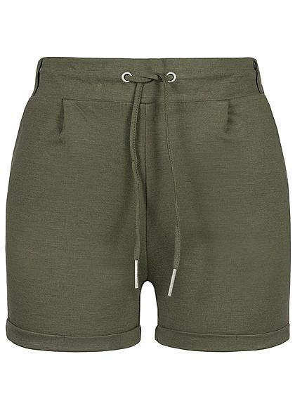 Seventyseven Lifestyle Damen Sweat Shorts 2-Pockets khaki grün