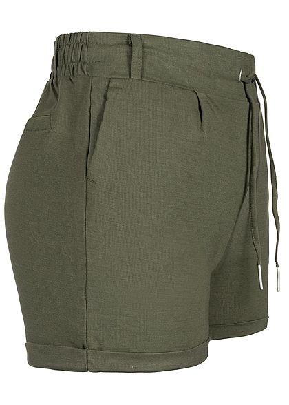 Seventyseven Lifestyle Damen Sweat Shorts 2-Pockets khaki grün