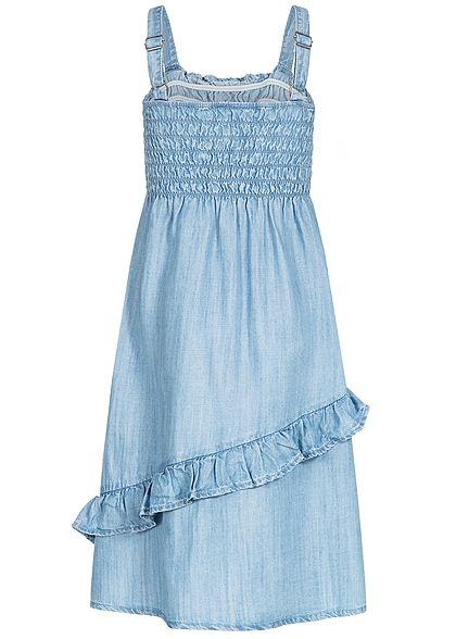 Name It Kids Mädchen Volant Denim Dress hell blau