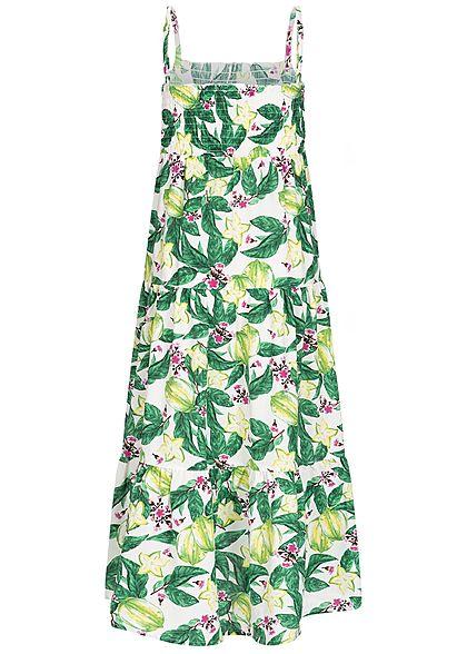 Name It Kids Mädchen Maxi Dress Flower Print bright weiss grün