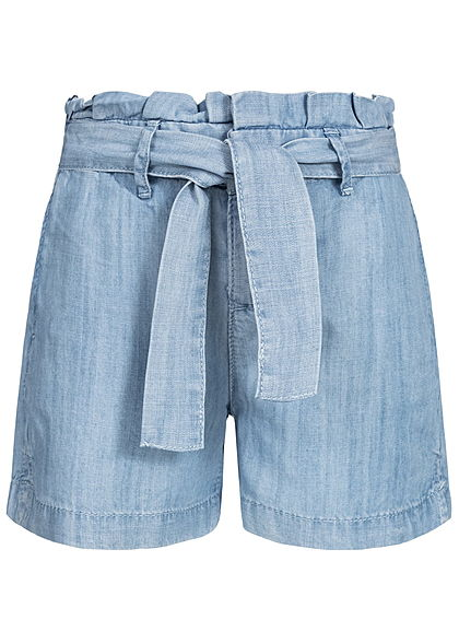 Name It Kids Mädchen Paper- Bag Shorts Belt 2-Pockets NOOS hell blau denim