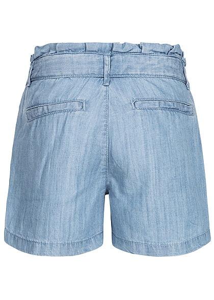 Name It Kids Mädchen Paper- Bag Shorts Belt 2-Pockets NOOS hell blau denim