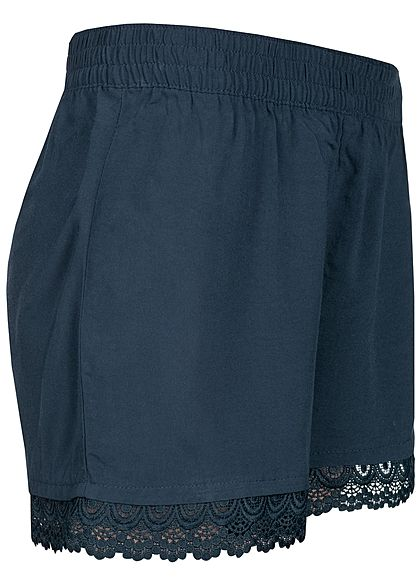 JDY by ONLY Damen Crochet Shorts navy blazer blau