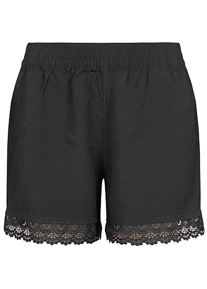 JDY by ONLY Damen Crochet Shorts schwarz
