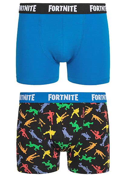 Name It Kids Jungen 2-Pack Boxershorts Fortnite Print schwarz blau