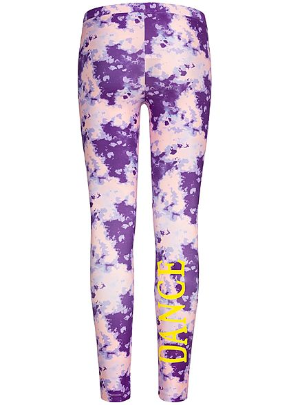 Name It Kids Mädchen Leggings Abstract Dance Print pansy rosa lila