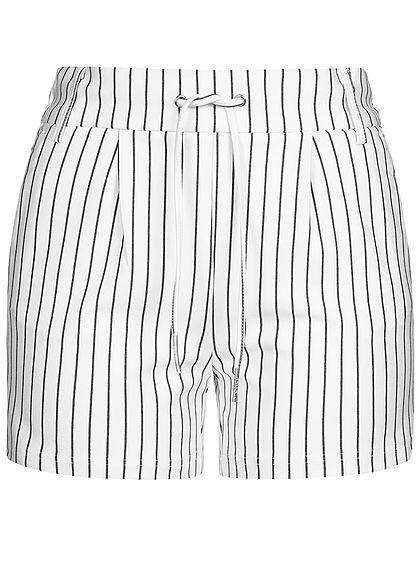 ONLY Damen Striped Summer Shorts NOOS cloud dancer weiss schwarz