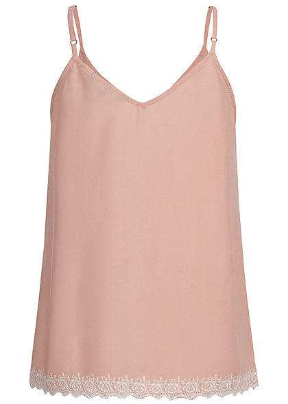 Vero Moda Damen Adjustable Strap Top Buttons Front misty rosa