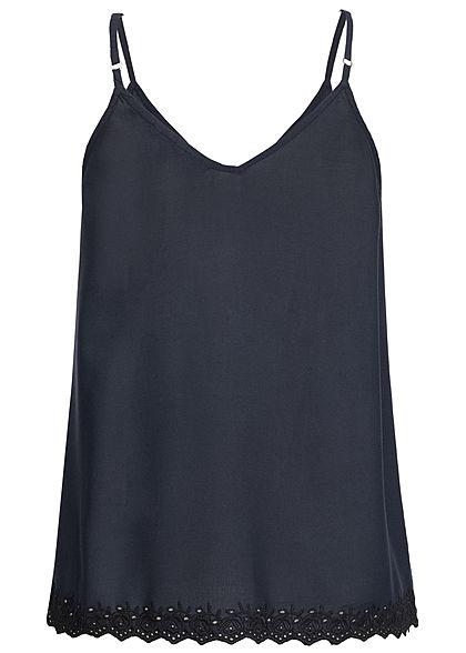 Vero Moda Damen Adjustable Strap Top Buttons Front night sky navy blau