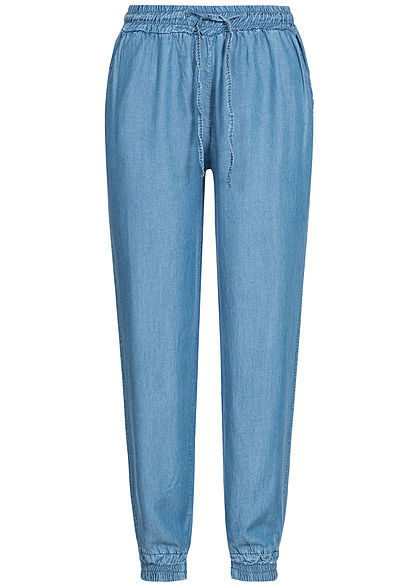 Hailys Damen Denim Trousers 2-Pockets hell blau