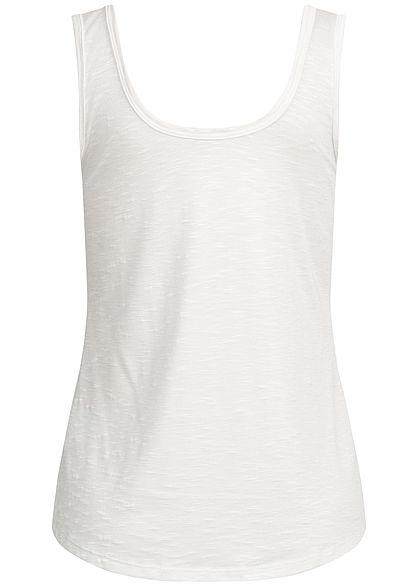 Hailys Damen Tank Top Breast Pocket weiss