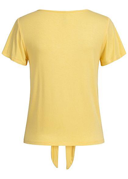 Hailys Damen Tie-Knot Shirt Buttons Front gelb