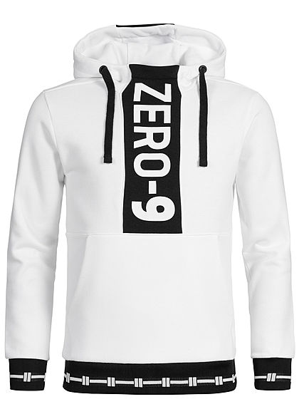 Jack and Jones Herren Sweat Hoodie Zer0-9 Print weiss