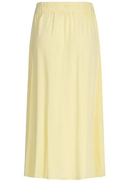 Hailys Damen Buttons Front Midi Skirt gelb