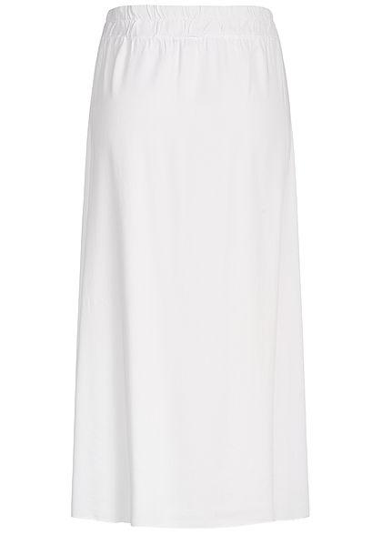 Hailys Damen Buttons Front Midi Skirt weiss
