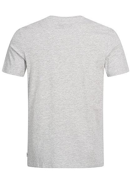 Jack and Jones Herren T-Shirt Front Print hell grau melange