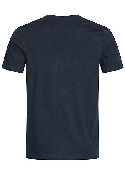 Jack and Jones Herren T-Shirt Front Print sky captain blau