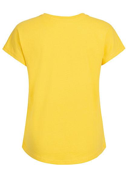 Name It Kids Mädchen T-Shirt Dance Vibes Glitter Print primerose gelb silber