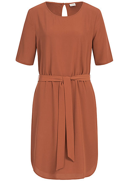 JDY by ONLY Belted T-Shirt Dress NOOS smoked paprika braun