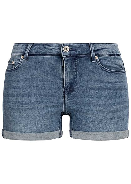 ONLY Damen Denim Shorts 5-Pockets medium blau