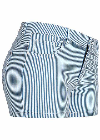 ONLY Damen Striped Shorts 3-Pockets marina blau weiss