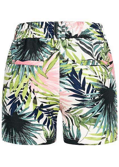 ONLY Damen Poptrash Shorts Tropical Leaf Print 2-Pockets multicolor