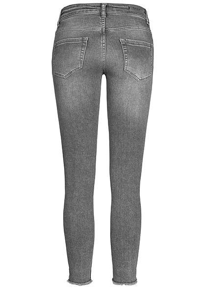 ONLY Damen Ankle Skinny Jeans 5-Pockets Washed Look Regular Waist NOOS hell grau denim