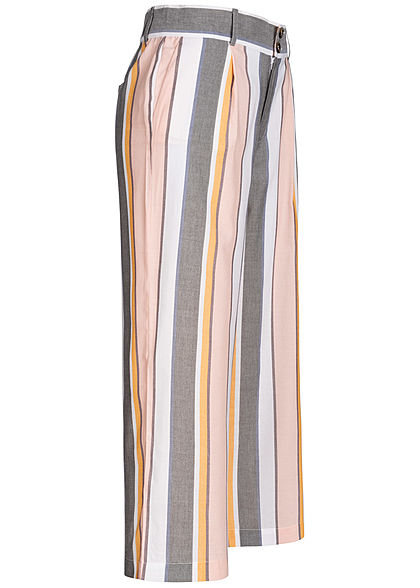 ONLY Damen Multi Striped Soft Trousers 2-Pockets cameo rosa