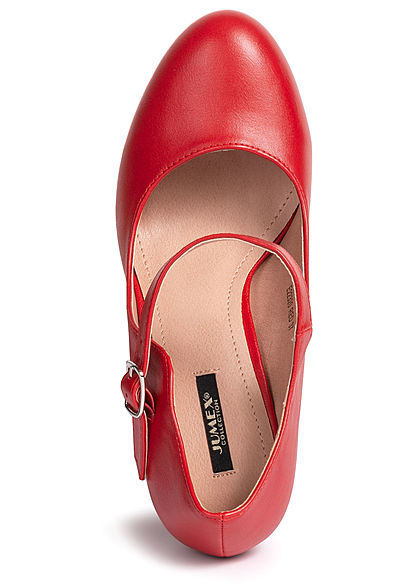 Seventyseven Lifestyle Damen Mary Jane Plateau High Heel Sandals rot