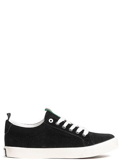 Seventyseven Lifestyle TB Striped Velour Sneaker schwarz