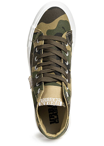 Seventyseven Lifestyle TB High Canvas Sneaker camouflage weiss