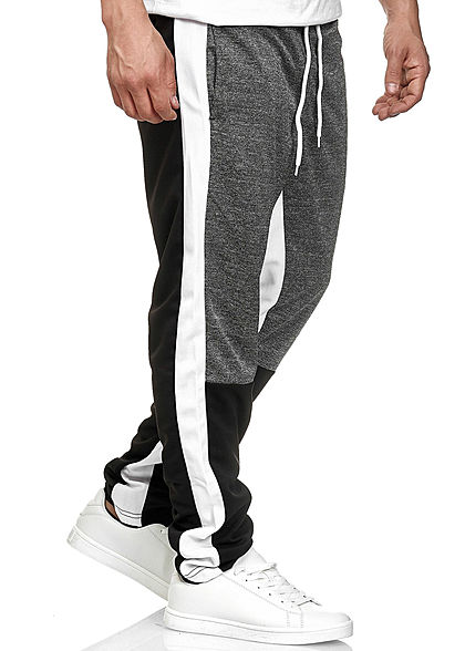 Southpole TB Herren Colorblock Pants 3-Pockets weiss schwarz grau