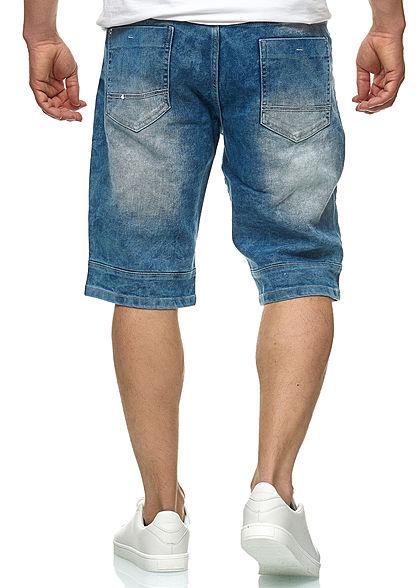 Southpole TB Herren Biker Denim Bermuda Shorts 5-Pockets hell sand blau