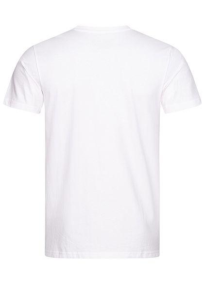 Wu Wear Herren T-Shirt Wu-Tang Logo weiss schwarz