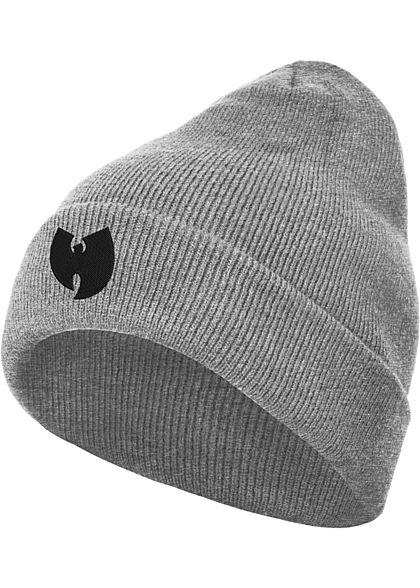 Wu Wear TB Herren Beanie Wu-Tang-Patch heather grau