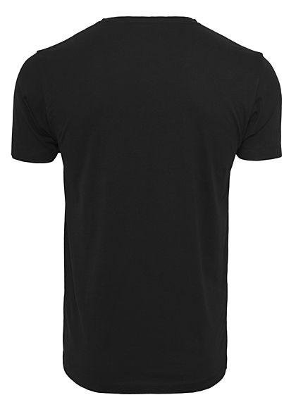 Wu Wear Herren T-Shirt Black Logo schwarz