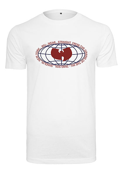 Wu Wear TB Herren T-Shirt Global Logo Print weiss
